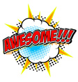 awesome design element vector image vector image