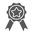 badge with ribbons glyph icon e commerce vector image