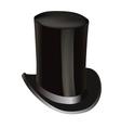 black cylinder hat vector image vector image