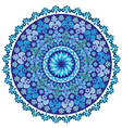 blue oriental pattern and ornaments vector image vector image