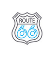 bus route thin line stroke icon bus route vector image