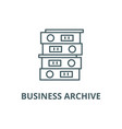 business archive line icon business vector image vector image
