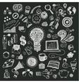 Business doodles on blackboard vector image vector image