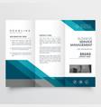 business trifold brochure leaflet design in size vector image vector image