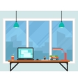 business workplace room interior vector image