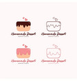 cake logo dessert and bakery template logo sign vector image vector image