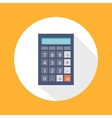 Calculator Flat Concept Icon vector image