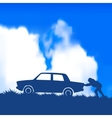 car broke down vector image