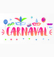 carnaval banner vector image