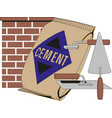 cement bag isolated on white background vector image vector image