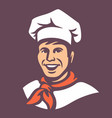 chef with hat vector image