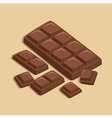 Chocolate Bar Block vector image