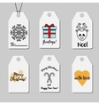 Christmas and New year gift tags Shopping and vector image