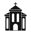 church building icon simple style vector image vector image