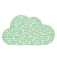 cloud composition of organic texts vector image vector image
