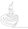 continuous line drawing of man on the top vector image