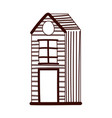 cottage rural architecture cartoon isolated design vector image