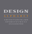 decorative bold serif font uppercase letters and vector image vector image