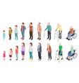 different generations isometric people adult vector image