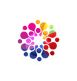 digital colorful logo isolated circle logo vector image vector image