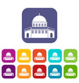 dome of the rock on the temple mount icons set vector image vector image