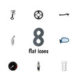 flat icon parts set of auto component silencer vector image vector image