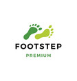 foot step logo icon vector image