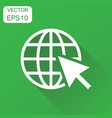 go to web icon business concept network internet vector image vector image