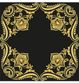 gold pattern black background vector image vector image