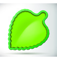 Green leaf with border and shadow vector image
