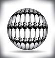 guitar sphere vector image vector image