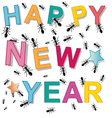 happy new year ant vector image