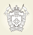 heraldic emblem - royal coat arms vector image vector image