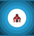 isolated farmhouse flat icon barn element vector image
