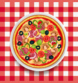 italian pizza meal design vector image vector image