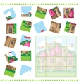 Jigsaw Puzzle game for Children vector image