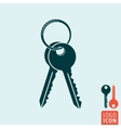 Key icon isolated vector image