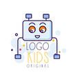 kids logo original creative concept template vector image vector image