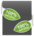 left and right side signs 100 natural vector image vector image