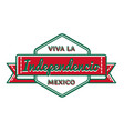 Mexican independence day greeting emblem