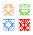 modern korean window and tile in square design vector image vector image