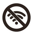 no wifi sign vector image