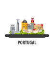 portugal travel location vacation or trip and vector image