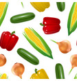 realistic detailed 3d vegetables seamless pattern vector image vector image