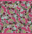 seamless pattern flower and leaf background in vector image vector image