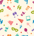 Seamless Pattern of Party Colorful Icons Wallpaper vector image vector image