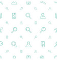 search icons pattern seamless white background vector image vector image
