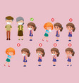 set right and wrong ways to protect oneself vector image vector image