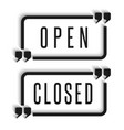 signboard in door are open and closed vector image