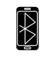smartphone communication icon vector image